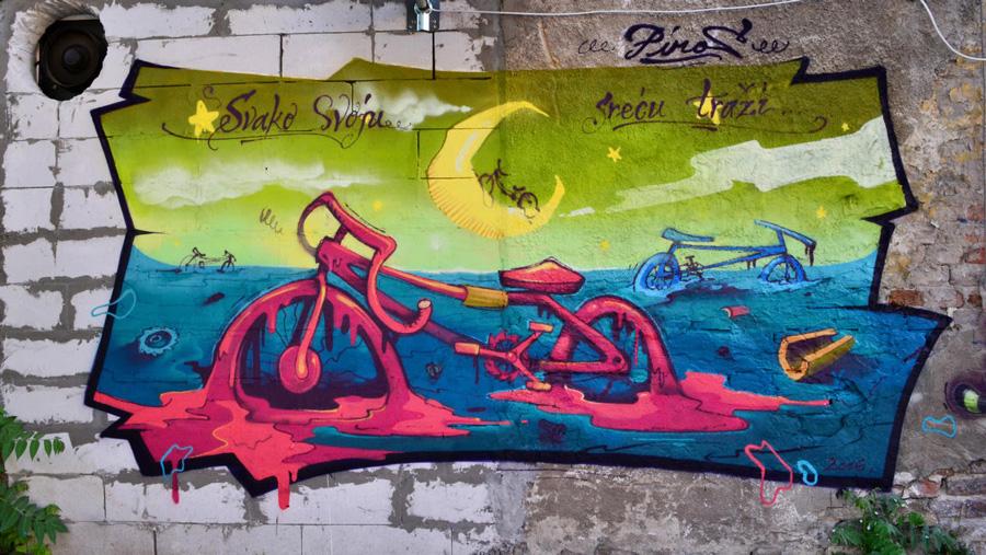 Piros, bicikle